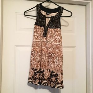 Lucky Brand embellished beaded tank